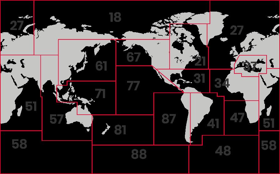 Mapa distribución Garciden - Atún
